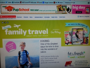 A peek at the Smart Family Travel site.