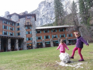 Outside The Ahwahnee, right after we arrived.