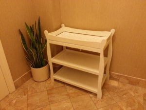 Yes! A changing table! In a men's room!