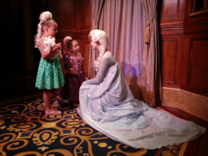 The girls meet Elsa.
