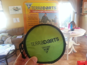 Terra Darts. Just one of the many cool things about the REI Kid Pack.