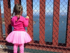 The Birthday Girl on the Golden Gate.