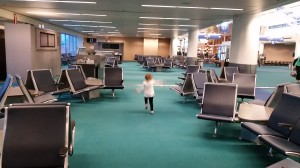 Airplane impersonations at PDX, Gate C5.