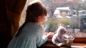 Little R (and cat), enjoying the view.