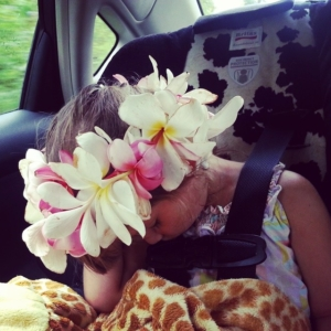 Snoozing. On the Hana Highway.