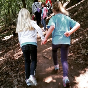 Big Girl and BFF hiking to celebrate Earth.