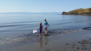 Sisters. Eagle Cove. Beachcombing.