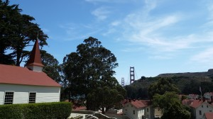 The view from our room at Cavallo Point.