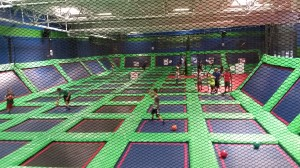 The trampolines at Rebounderz.