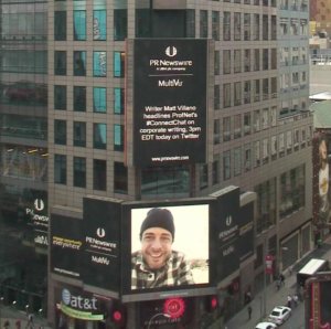 I unplug to escape stuff like this. (Me! In Times Square!)