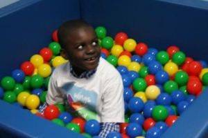 Ball pit in the multisensory room.